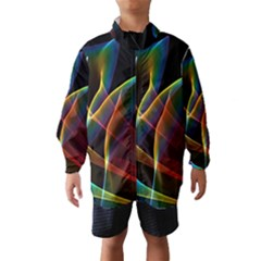 Peacock Symphony, Abstract Rainbow Music Wind Breaker (kids)