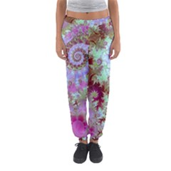 Raspberry Lime Delighraspberry Lime Delight, Abstract Ferris Wheel Women s Jogger Sweatpants