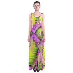 Raspberry Lime Mystical Magical Lake, Abstract  Full Print Maxi Dress