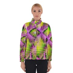 Raspberry Lime Mystical Magical Lake, Abstract  Winterwear