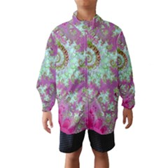 Raspberry Lime Surprise, Abstract Sea Garden  Wind Breaker (Kids)