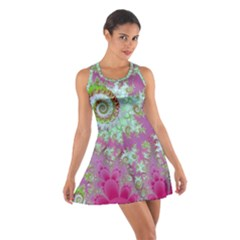 Raspberry Lime Surprise, Abstract Sea Garden  Racerback Dresses