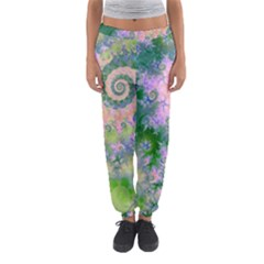 Rose Apple Green Dreams, Abstract Water Garden Women s Jogger Sweatpants