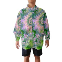 Rose Apple Green Dreams, Abstract Water Garden Wind Breaker (Kids)
