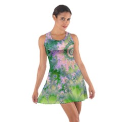 Rose Apple Green Dreams, Abstract Water Garden Racerback Dresses