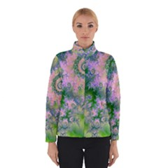 Rose Apple Green Dreams, Abstract Water Garden Winterwear