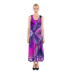 Rose Crystal Palace, Abstract Love Dream  Full Print Maxi Dress