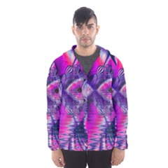 Rose Crystal Palace, Abstract Love Dream  Hooded Wind Breaker (men)