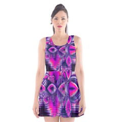 Rose Crystal Palace, Abstract Love Dream  Scoop Neck Skater Dress