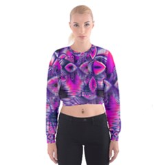 Rose Crystal Palace, Abstract Love Dream  Women s Cropped Sweatshirt