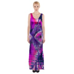 Rose Crystal Palace, Abstract Love Dream  Maxi Thigh Split Dress