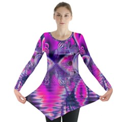 Rose Crystal Palace, Abstract Love Dream  Long Sleeve Tunic