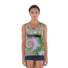 Rose Forest Green, Abstract Swirl Dance Tops