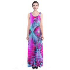 Ruby Red Crystal Palace, Abstract Jewels Full Print Maxi Dress