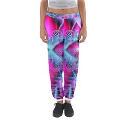 Ruby Red Crystal Palace, Abstract Jewels Women s Jogger Sweatpants