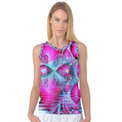 Ruby Red Crystal Palace, Abstract Jewels Women s Basketball Tank Top