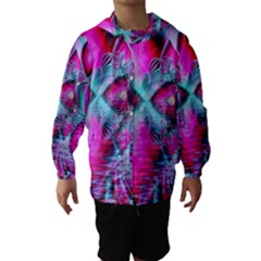 Ruby Red Crystal Palace, Abstract Jewels Hooded Wind Breaker (Kids)