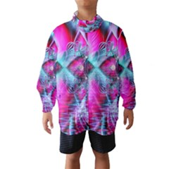 Ruby Red Crystal Palace, Abstract Jewels Wind Breaker (Kids)