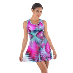Ruby Red Crystal Palace, Abstract Jewels Racerback Dresses