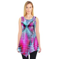 Ruby Red Crystal Palace, Abstract Jewels Sleeveless Tunic