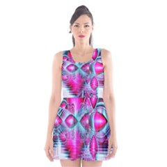 Ruby Red Crystal Palace, Abstract Jewels Scoop Neck Skater Dress