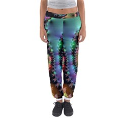 Satin Rainbow, Spiral Curves Through the Cosmos Women s Jogger Sweatpants