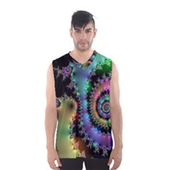 Satin Rainbow, Spiral Curves Through The Cosmos Men s Basketball Tank Top