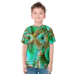 Spring Leaves, Abstract Crystal Flower Garden Kid s Cotton Tee