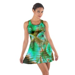 Spring Leaves, Abstract Crystal Flower Garden Racerback Dresses