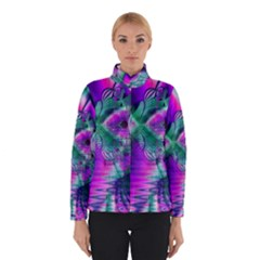 Teal Violet Crystal Palace, Abstract Cosmic Heart Winterwear