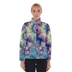 Violet Teal Sea Shells, Abstract Underwater Forest (purple Sea Horse, Abstract Ocean Waves  Winterwear
