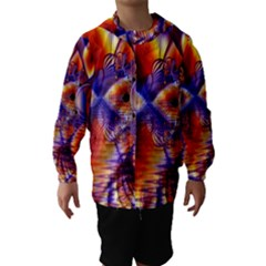 Winter Crystal Palace, Abstract Cosmic Dream (lake 12 15 13) 9900x7400 Smaller Hooded Wind Breaker (kids)