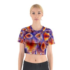 Winter Crystal Palace, Abstract Cosmic Dream (lake 12 15 13) 9900x7400 Smaller Cotton Crop Top