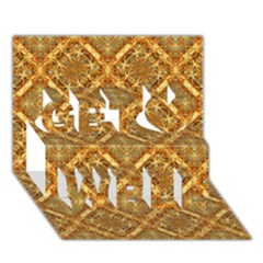 Luxury Check Ornate Pattern Get Well 3d Greeting Card (7x5)