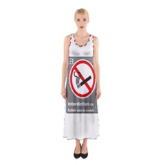 No Smoking  Full Print Maxi Dress