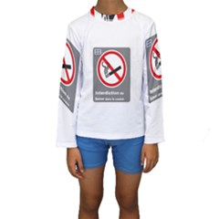 No Smoking  Kid s Long Sleeve Swimwear