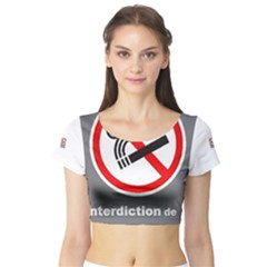 No Smoking  Short Sleeve Crop Top (Tight Fit)