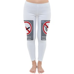 No Smoking  Winter Leggings