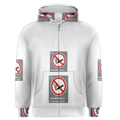 No Smoking  Men s Zipper Hoodie