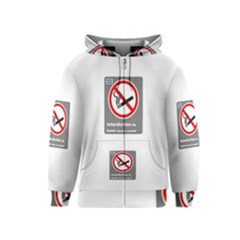 No Smoking  Kids  Zipper Hoodie