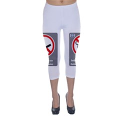 No Smoking  Capri Winter Leggings