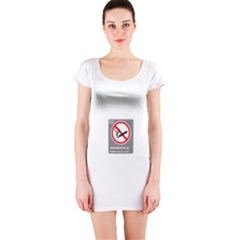 No Smoking  Short Sleeve Bodycon Dress