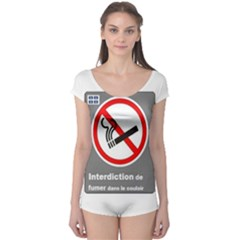 No Smoking  Boyleg Leotard (Ladies)