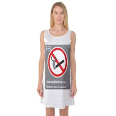No Smoking  Sleeveless Satin Nightdress