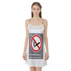 No Smoking  Satin Night Slip