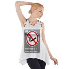 No Smoking  Side Drop Tank Tunic