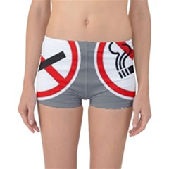 No Smoking  Reversible Boyleg Bikini Bottoms