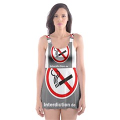 No Smoking  Skater Dress Swimsuit