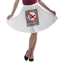 No Smoking  A-line Skater Skirt