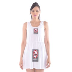 No Smoking  Scoop Neck Skater Dress